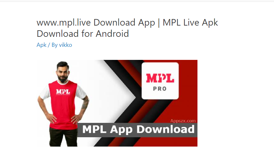 MPL Live App Download for Android   www.mpl.live Download Apk